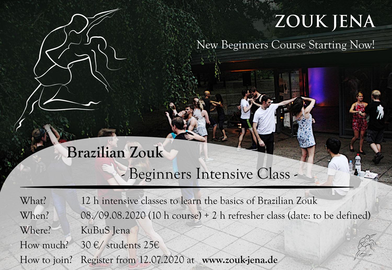 Zouk Beginners Course 2020